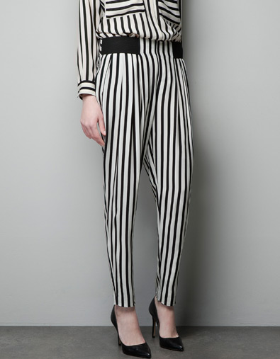 pantalon rayas www.zara.com