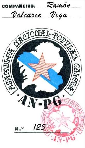 Carnet da AN-PG, unha das organizacións nas que Moncho militou