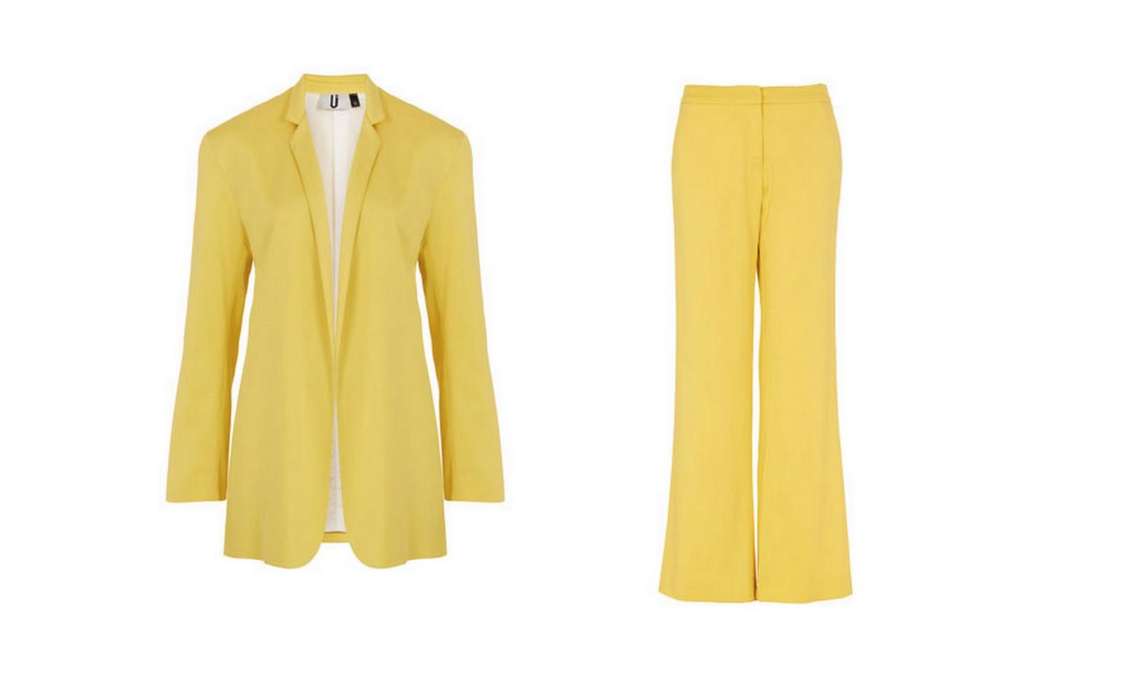 traje amarillo topshop