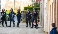 Disturbios y cargas policiales en la Avenida de Salamanca