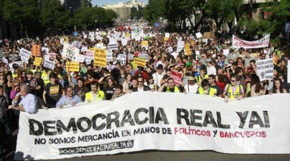 Manifestación de Democracia Real Ya