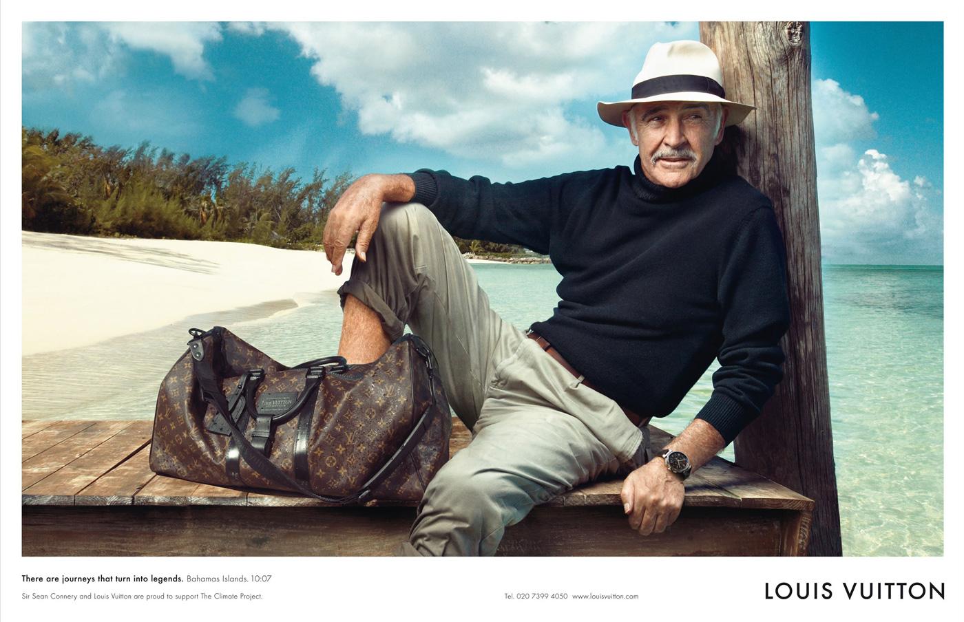 Sean Connery para una campaña publicitaria de Louis Vuitton, una de las marcas más lujosas del mundo. © Annie Leibovitz