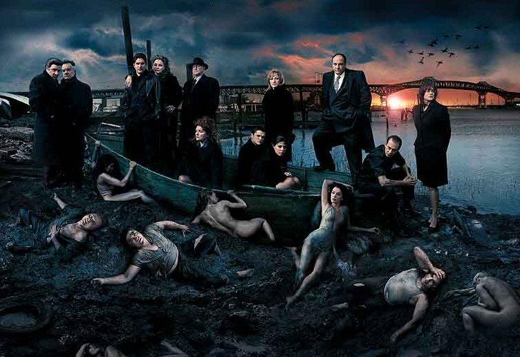 El reparto de Los Soprano  visto por Annie Leibovitz.  © Annie Leibovitz