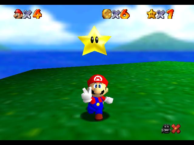 """""""Imagen del videojuego Super Mario 64"""""""