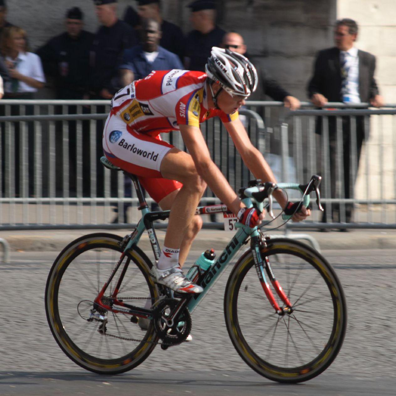 Chris Froome durante a súa etapa no equipo Barloworld / Fonte: velonews.com