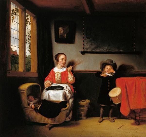 El tamborilero desobediente, Nicolas Maes   © http://museothyssen.org