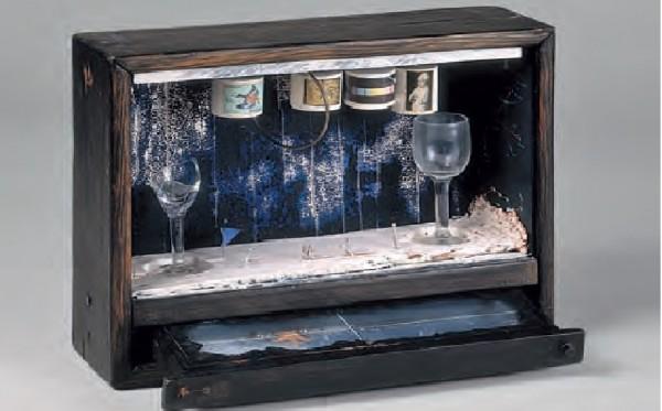 Burbuja de jabón azul, Joseph Cornell   © http://museothyssen.org