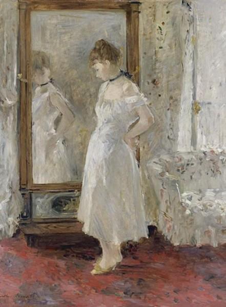 El espejo psiqué, Berthe Morisot   © http://museothyssen.org