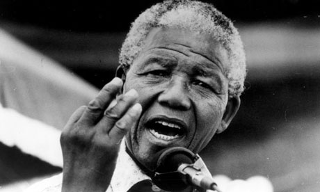 Mandela, en pleno discursoDon Mcphee (The Guardian)
