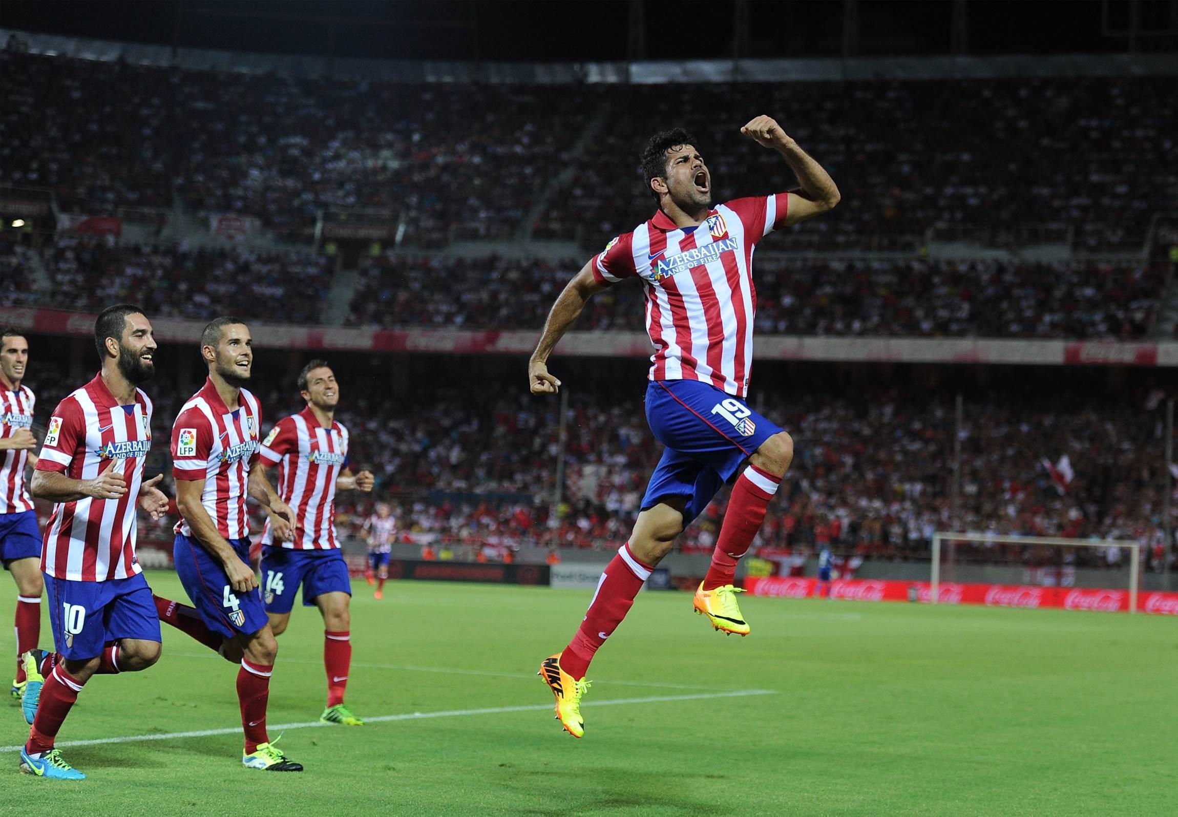 Diego Costa celebra un gol no Sánchez Pizjuán ©José Pablo González