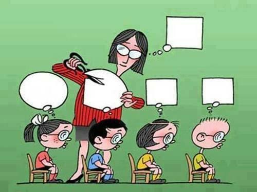Ilustración sobre el papel de la escuela en los niños.