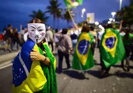 Manifestantes con la máscara de Anonymus - Google Images