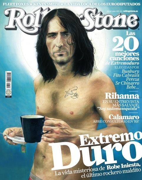 Portada de la Rolling Stone con una ilustración de Robe.
