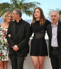 Cannes y su farándula. Caras de éxito y euforia entre el equipo de La Vida de Adèle.