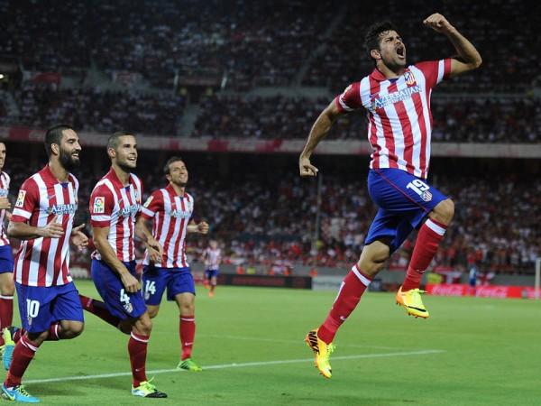 Diego Costa celebra un gol con el Atlético de Madrid | Vía 100x100fan.com