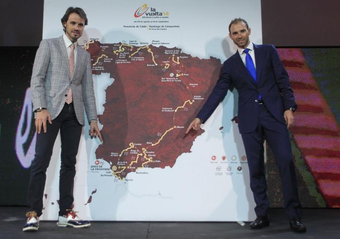 Sánchez y Valverde el día de la presentación. Sacado de cyclingnews.com