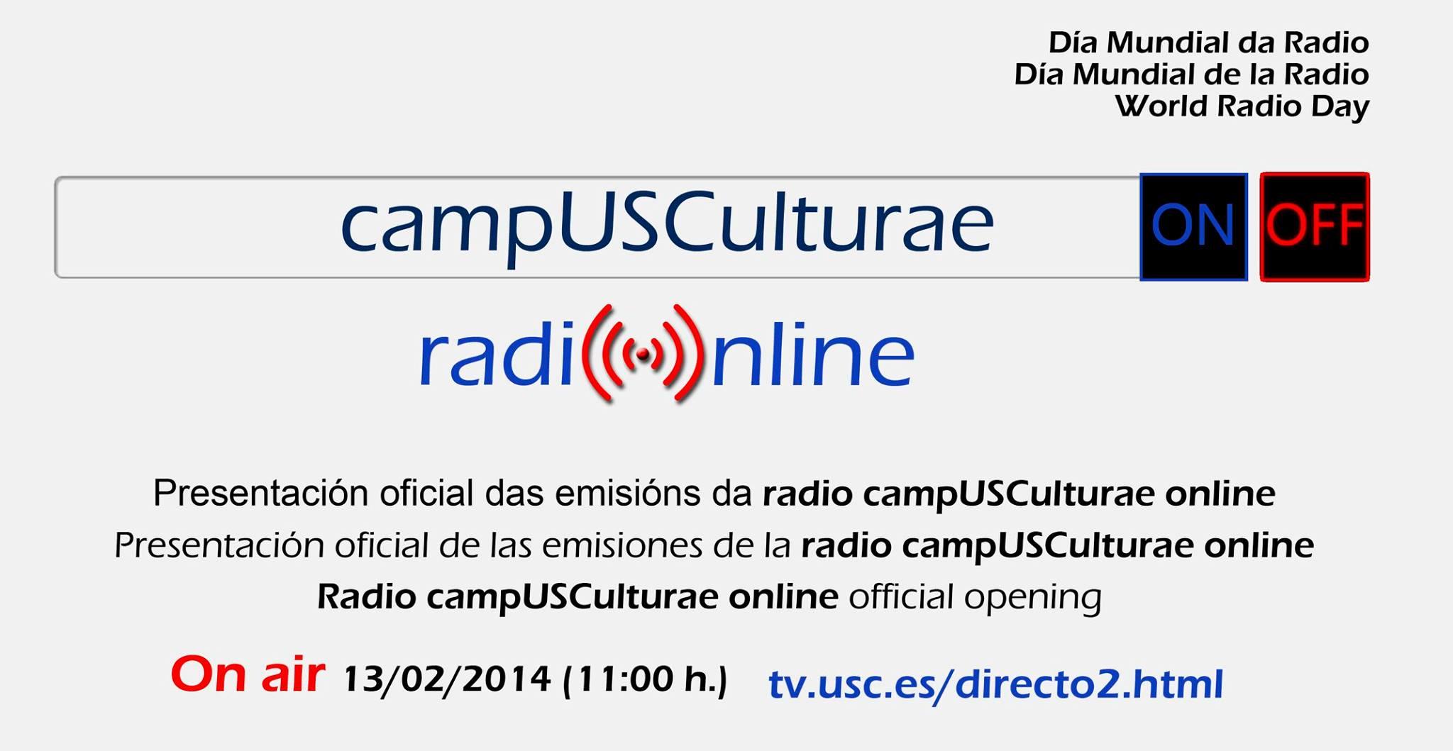 Anuncio de la primera emisión de la radio universitaria | CampUSCulturae