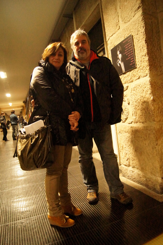 Marga P. Díaz e Isidro Cea durante a inauguración da exposición | ©Ada Seoane Alló