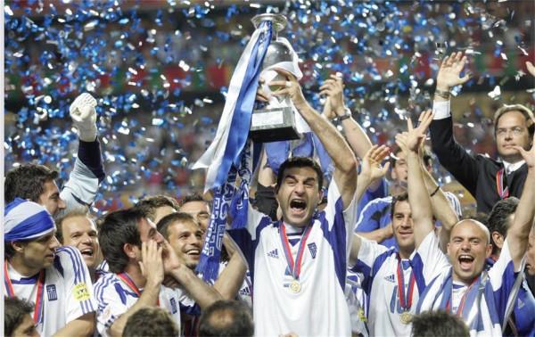 Grecia celebra la Eurocopa | Fuente: lahinchada.com.ve