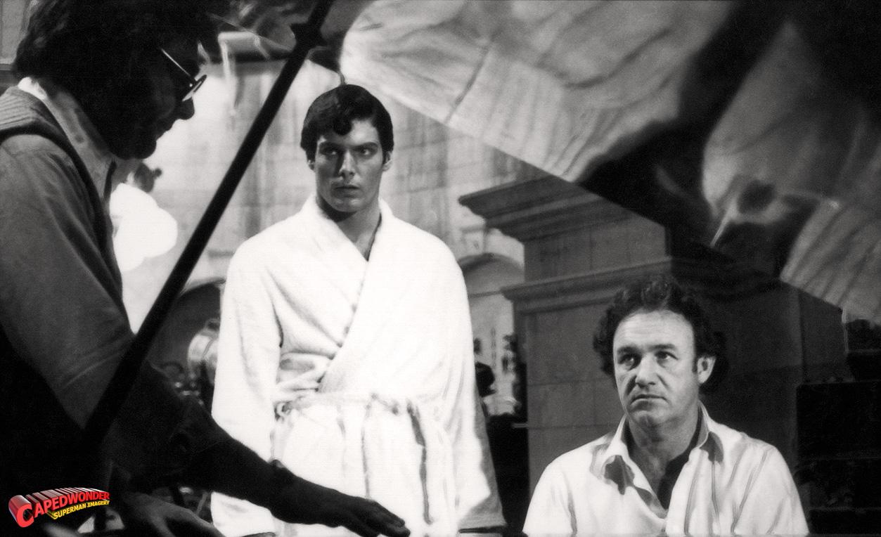 Christopher Reeve en el rodaje acompañado de John Williams / cinemastric.com