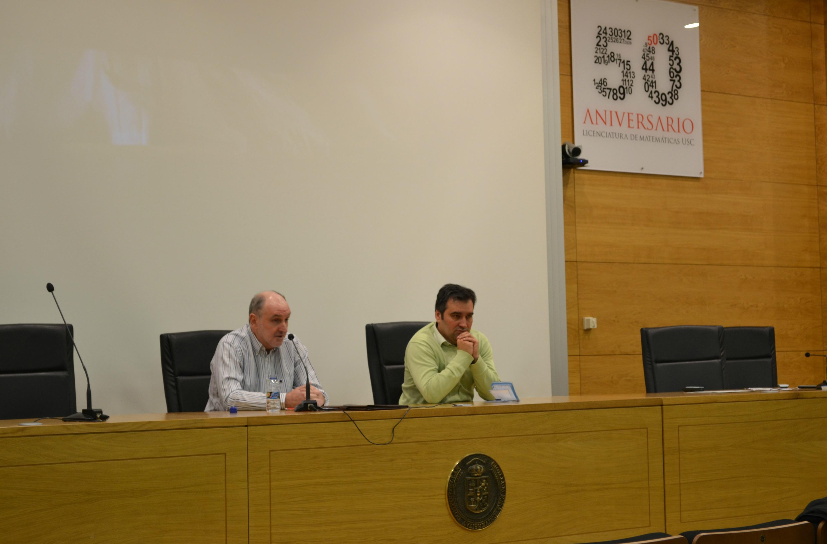 Jorge Sobral y Carlos Martínez durante la conferencia sobre peligro y enfermedad mental | ©Andrea Oca