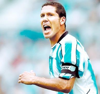 Simeone na súa época como xogador do Rácing de Avellaneda - ©Taringa