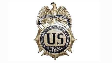 Escudo de la Agencia Antidrogas de los Estados Unidos (DEA), creada en 1973.