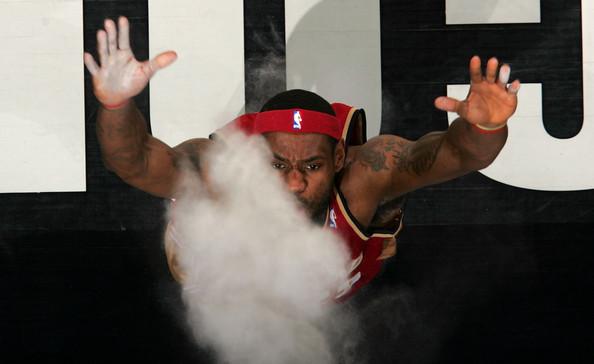 LeBron en su primera etapa en Cleveland