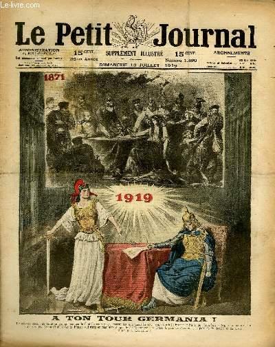 Alegoría del revanchismo francés en el Tratado de Versalles. Portada de Le Petite Journal.