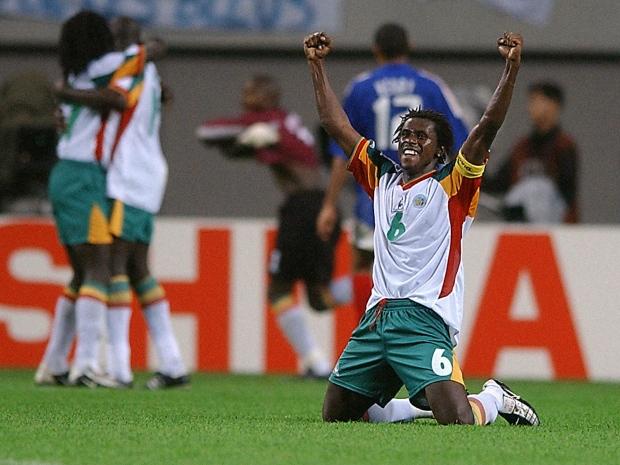 Senegal celebra una de sus victorias durante el Mundial.