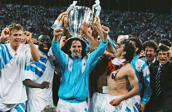 Deschamps levantó en el 93 la única Liga de Campeones ganada por un equipo francés (Foto: fútboldesdefrancia).