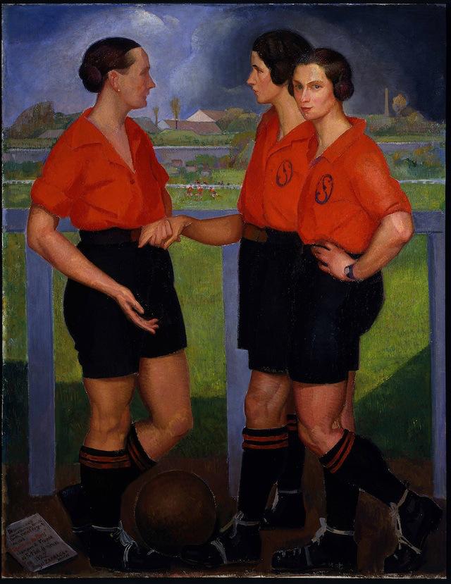 Ángel-Zárraga-Las-futbolistas-1922-óleo-sobre-tela-Museo-de-Arte-Moderno-INBA
