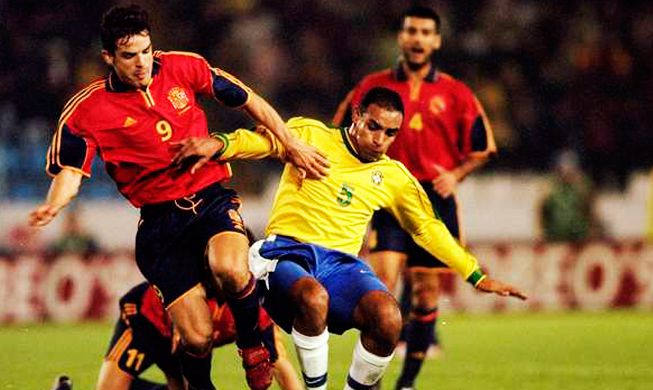 España-Brasil en 1999, el último amistoso de España en Balaídos