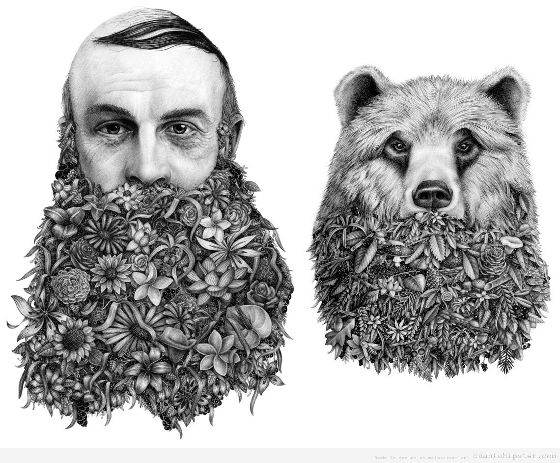 ilustracion-ViolaineJeremy-hombre-barba-oso