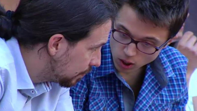 Errejón y Pablo Iglesias, negociando fatídicamente © Periodista Digital