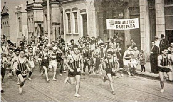 Imagen de la primera San Silvestre de la historia, Sao Paulo 1925
