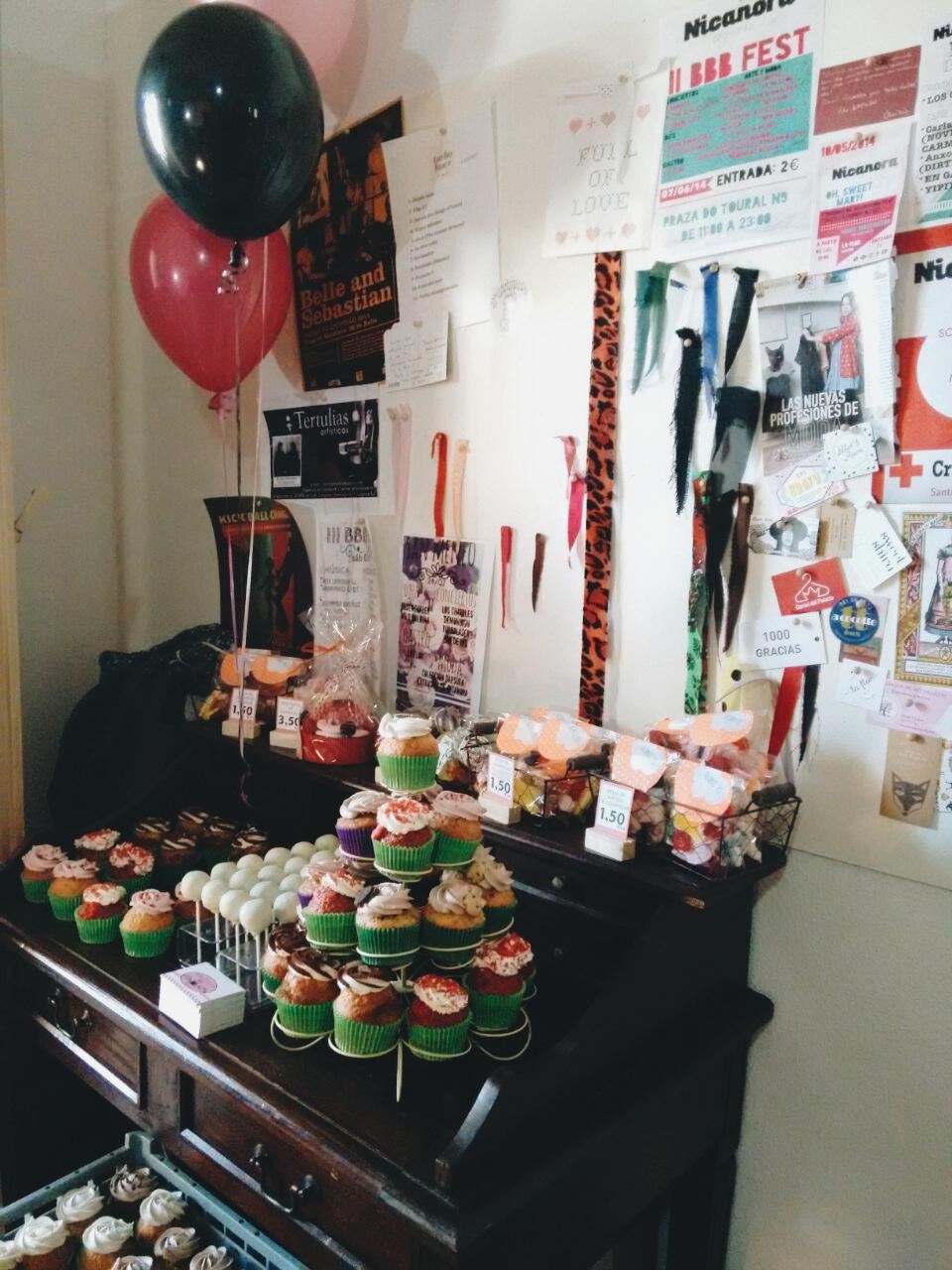 Stand de cupcakes de Dulce Victoria |  © Natalia Saavedra
