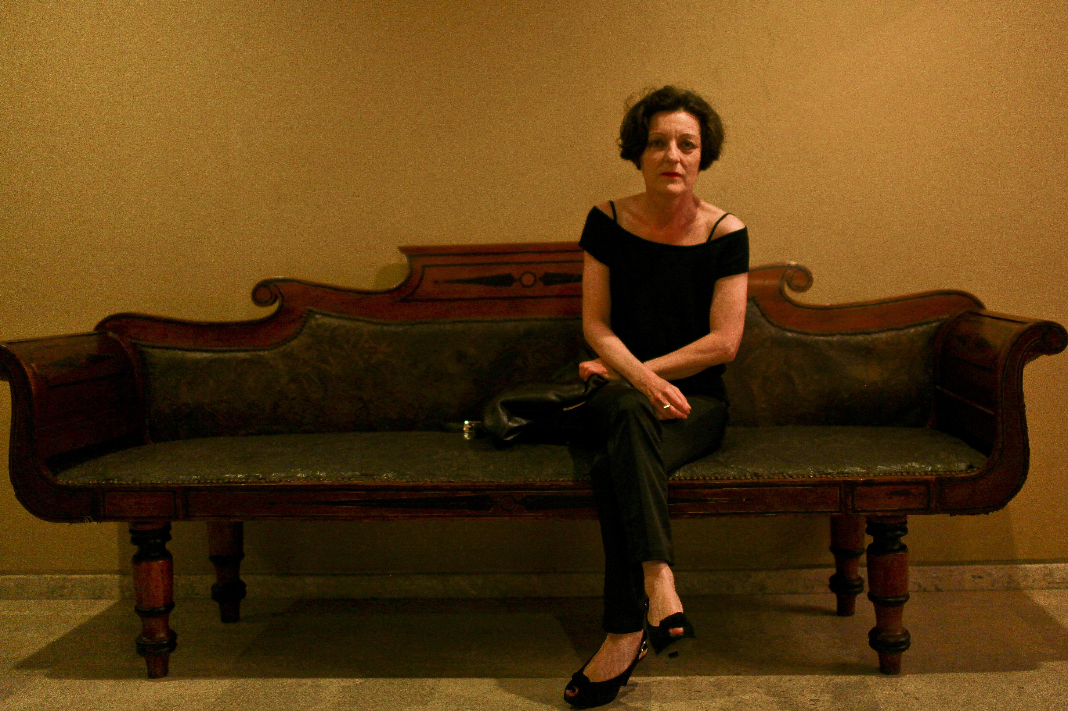 La escritora Herta Müller. Fuente: becaggm.fnpi.org
