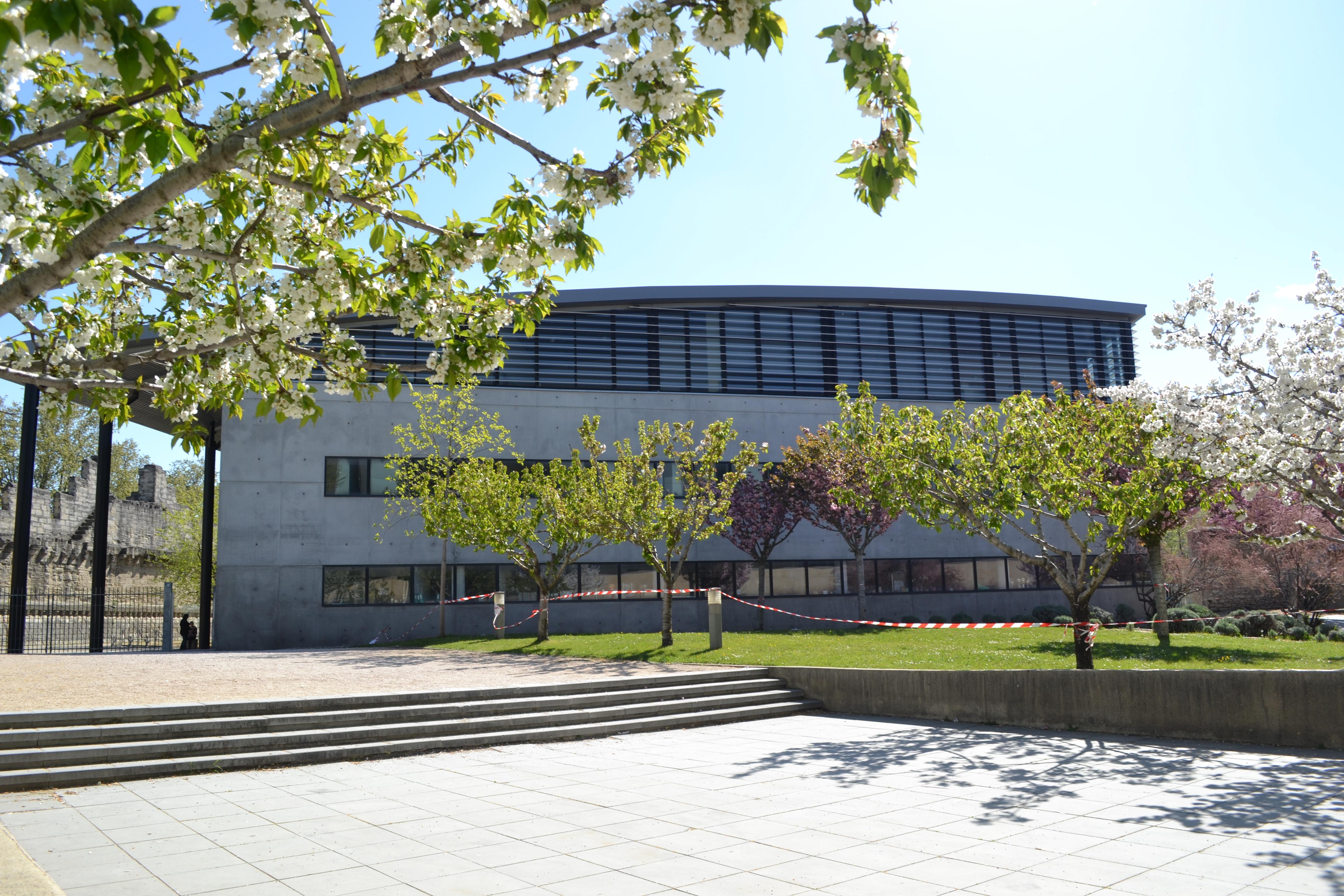 El edificio de la universidad donde se encuentran la sede del SUAPS y el pabellón | ©Andrea Oca