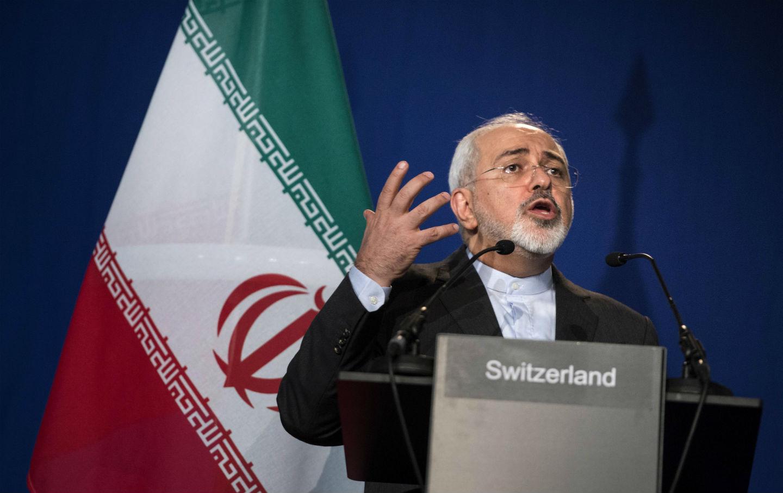 El Ministro de Asuntos Exteriores de Irán, Javad Zarif, en Lausanne | Fuente: Brendan Smialowski, Associated Press