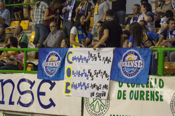 Aunque el partido no era el deseado para la afición ourensana, ellos mantuvieron la fe en el equipo.