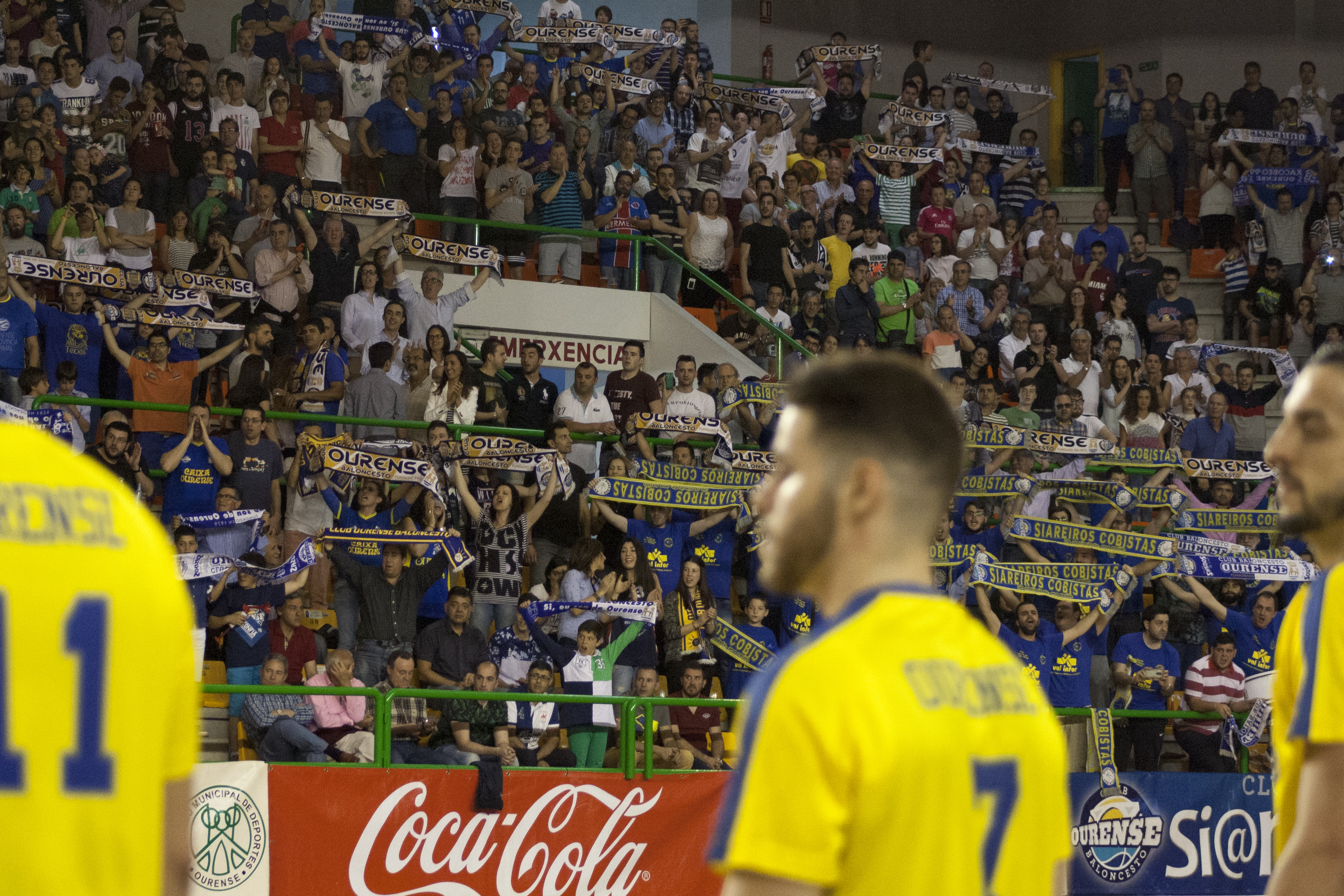 Sin embargo, Ourense quería el segundo punto y volvieron a estar al lado del equipo.