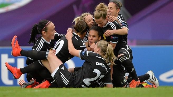 Frankfurt celebrando el gol (Foto: Sportsfile)