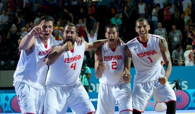 El equipo español de baloncesto 3x3 celebrando su victoria en cuartos de final   © El progreso