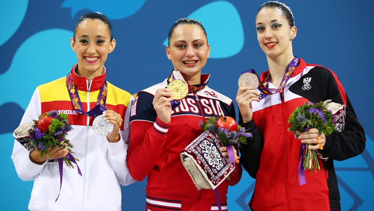 La nadadora de sincronizada Berta Ferreras ganó la medalla de solo y las dos de equipo | © Getty Images
