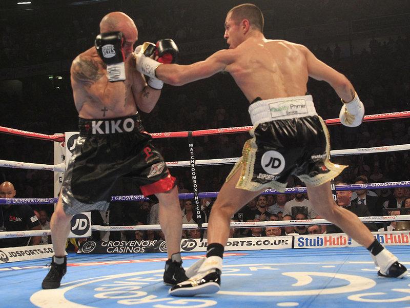 Imagen del combate entre Martinez y Quigg. Sacada de sportinglife.uk