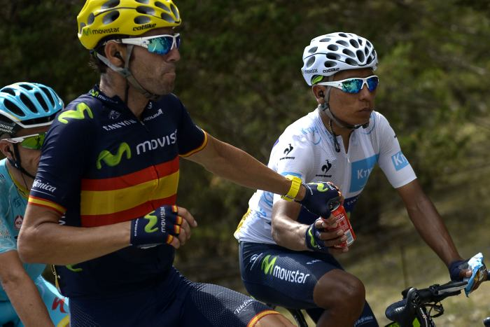 Nairo Quintana y Alejandro Valverde han logrado un doblete en el pódium inolvidable para el equipo Movistar - ©El Universal