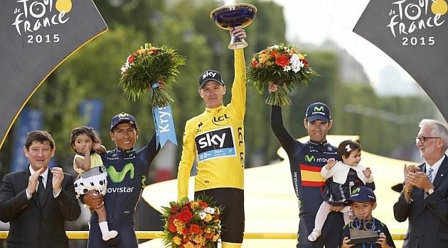 Entre los favoritos, los mismos del Tour. A los que sumamos a Fabio Aru que llega después de un buen Giro
