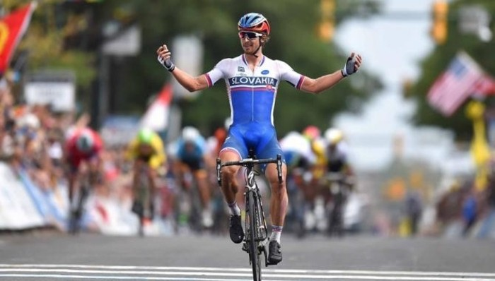 Peter Sagan celebra la victoria en Richmond - ©Altas Pulsaciones