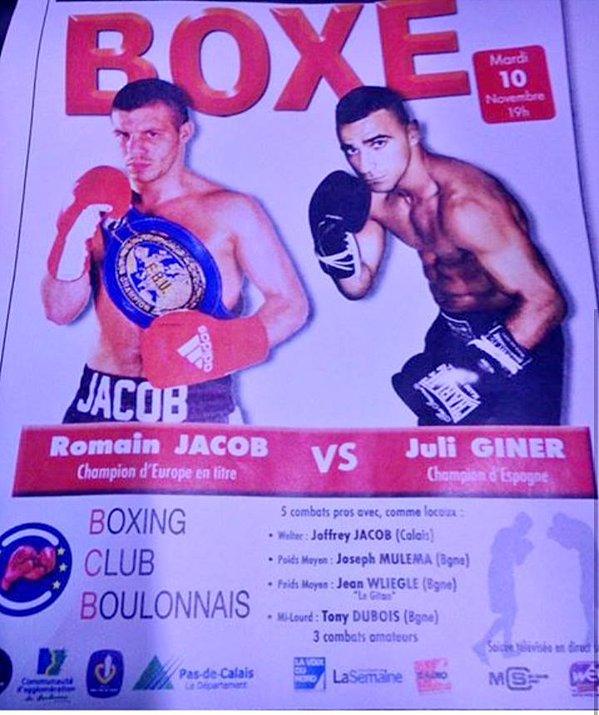 Imagen del cartel del combate Jacob-GIner. Imagen vía @julianisjulius